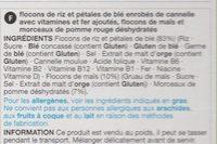 Apple and cinnamon flakes - Ingredients - fr