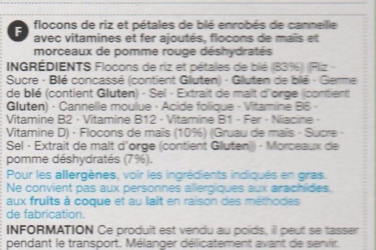 Apple & Cinnamon Flakes - Ingrediënten