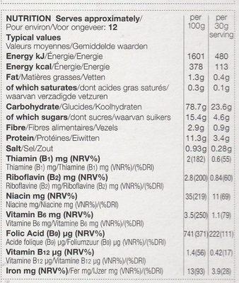 Apple & Cinnamon Flakes - Voedingswaarden - fr