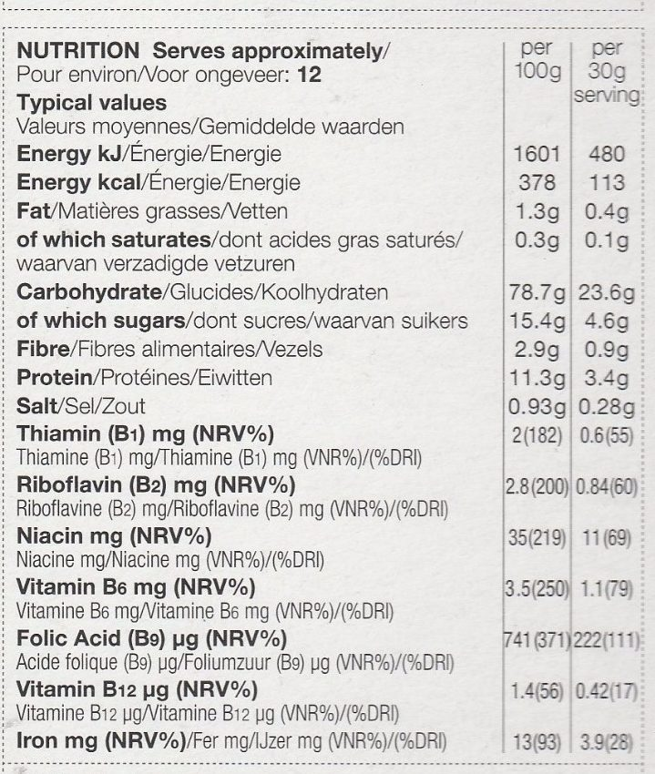 Apple & Cinnamon Flakes - Voedigswaarden
