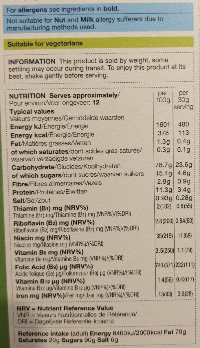 Apple and cinnamon flakes - Nutrition facts - fr