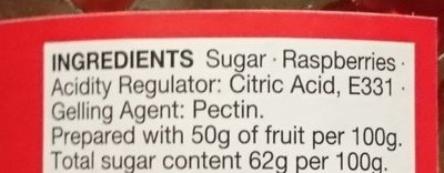 Raspberry Conserve - Ingredients