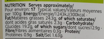 Salad cream - Informations nutritionnelles - en