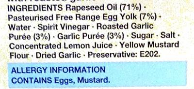 Roasted Garlic Mayo - Ingredients