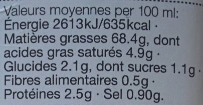 Roasted Garlic Mayo - Informations nutritionnelles