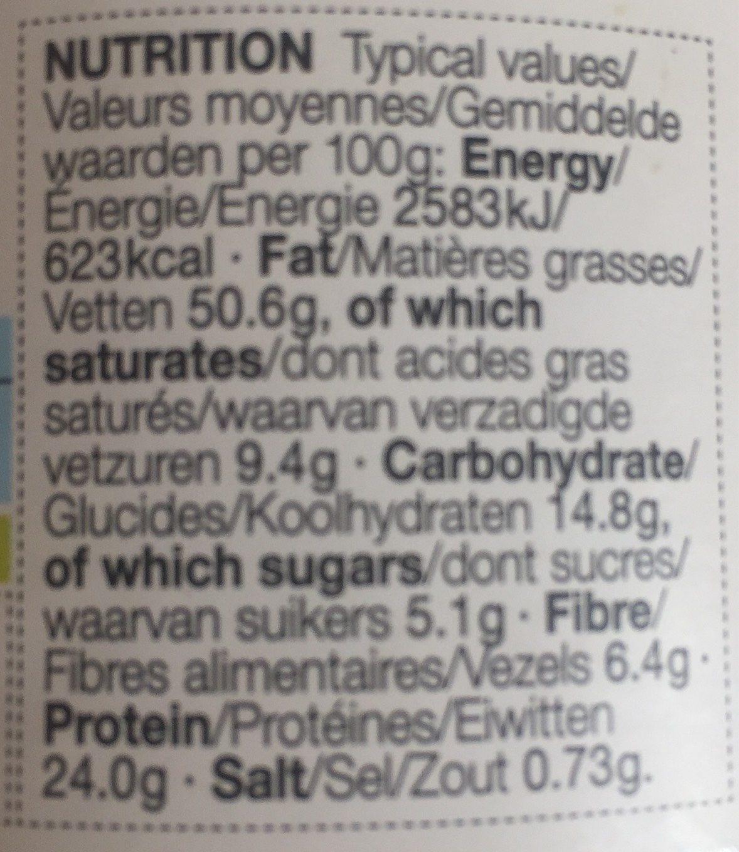 Smooth peanut butter, beurre de cacahuète - Nutrition facts
