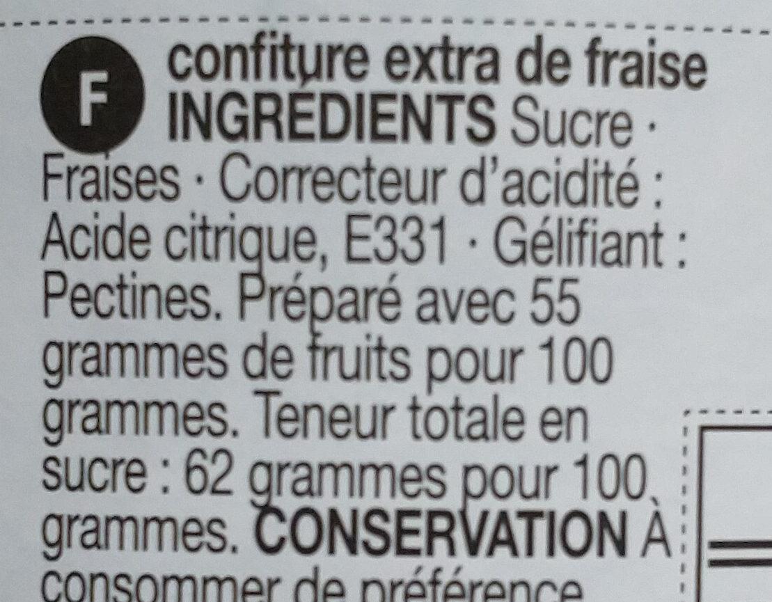 Strawberry conserve - Ingrédients