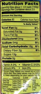 Organic Sliced Apples - Nutrition facts - en