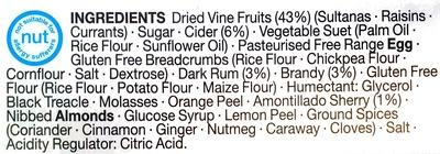 Gluten Free Christmas Pudding - Ingrediënten - en