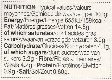 Chunky Guacamole - Voedingswaarden