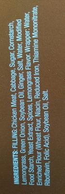 Lemongrass chicken stix - Ingredients