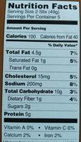 Lemongrass chicken stix - Nutrition facts