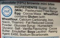 Chocolate Brownie Mini Bites - Ingredients