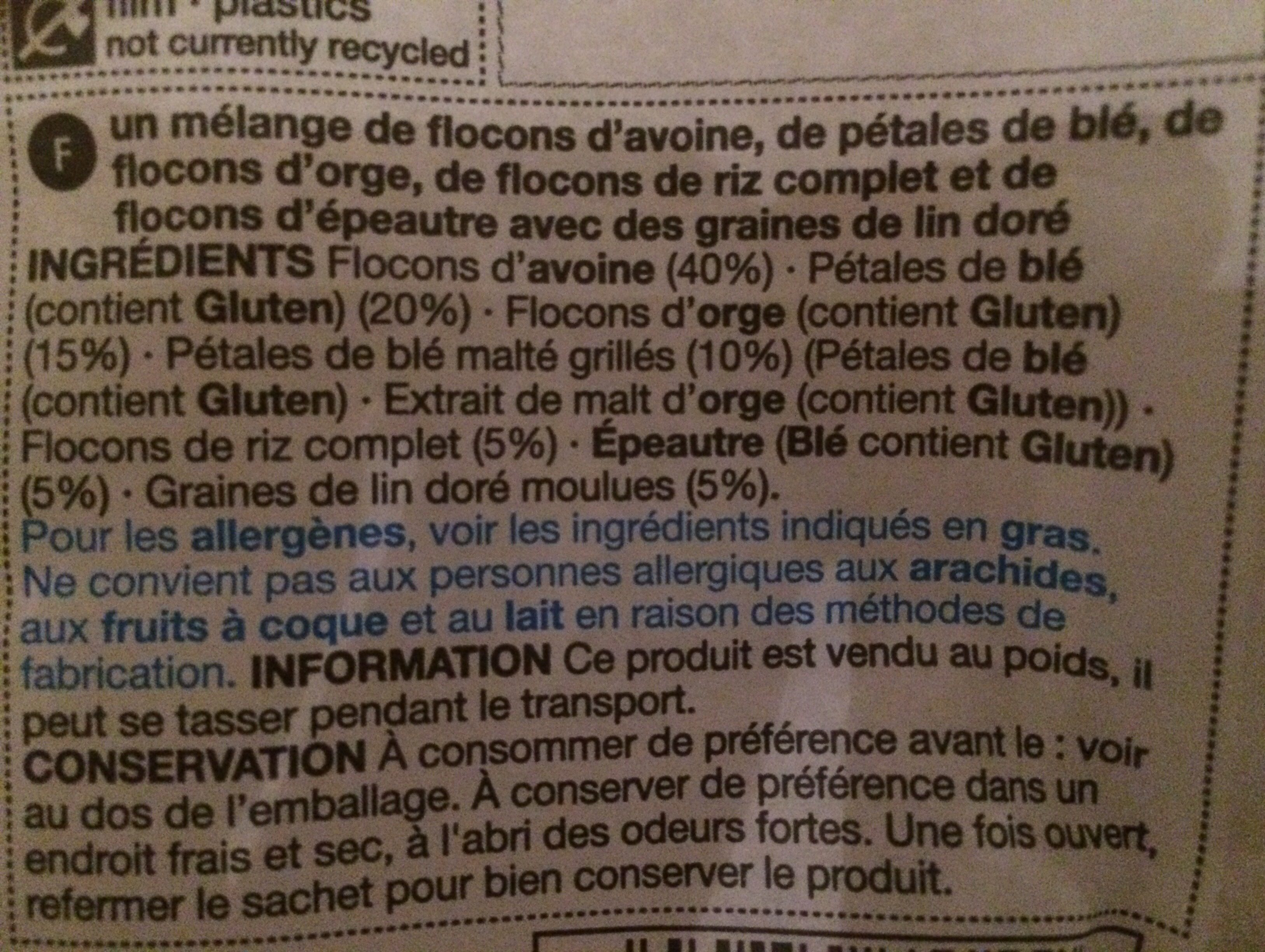Muesli Complet - Ingredients