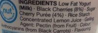 Low Fat Black Cherry Yogurt - Ingredients