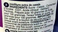 Blackcurrant conserve - Ingredients