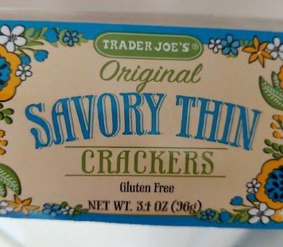 Savory Thin Crackers, Original - Product