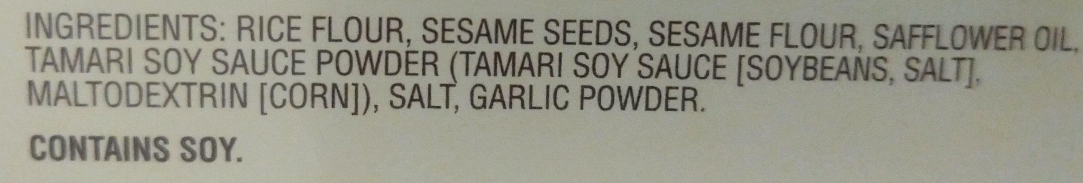 Savory Thin Crackers, Original - Ingredients
