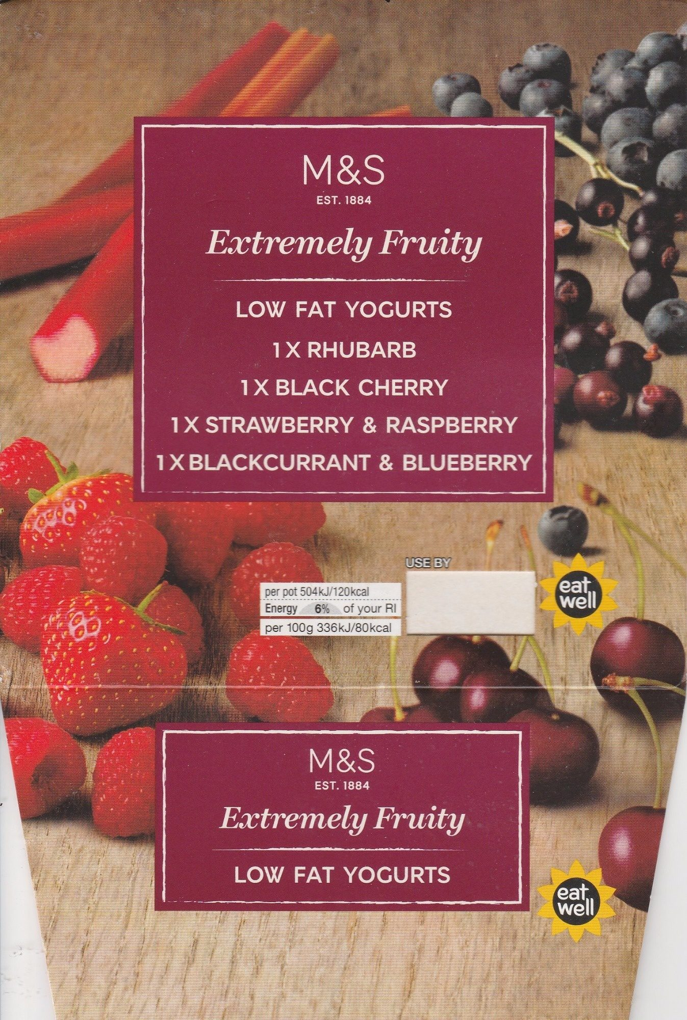 Extremely Fruity Low Fat Yogurts - Product - fr