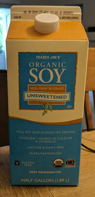Organic soy unsweetened - Product