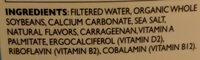 Organic soy unsweetened - Ingredients