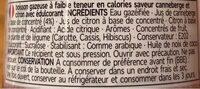 Diet Sparkling Pink Cranberry Lemonade - Informations nutritionnelles - fr