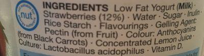 Low Fat Strawberry Live Yogurt - Ingredients