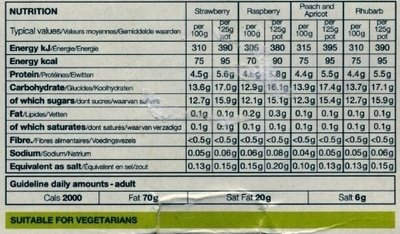 4 cholesterol lowering fat free yogurts - Informations nutritionnelles
