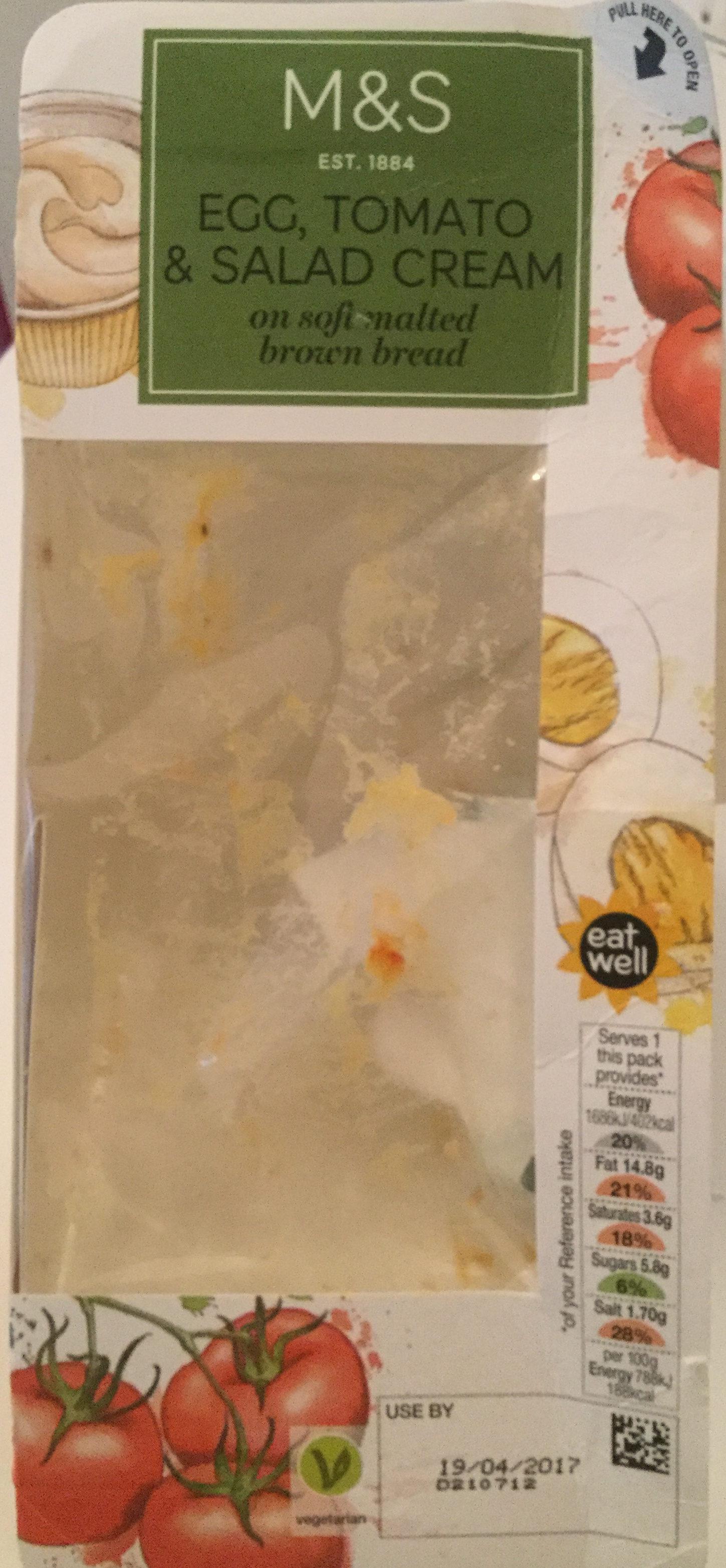 Egg, Tomato & Salad Cream - Product