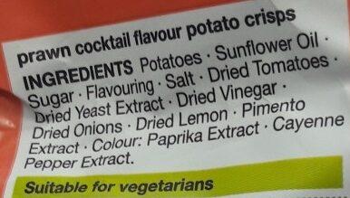 Prawn Cocktail Hand Cooked Crisps - Ingredients - en