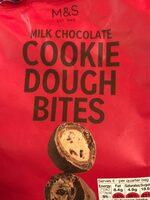 Milk chocolate cookie dough bites - Produit