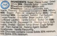 Milk chocolate cookie dough bites - Ingrédients - en