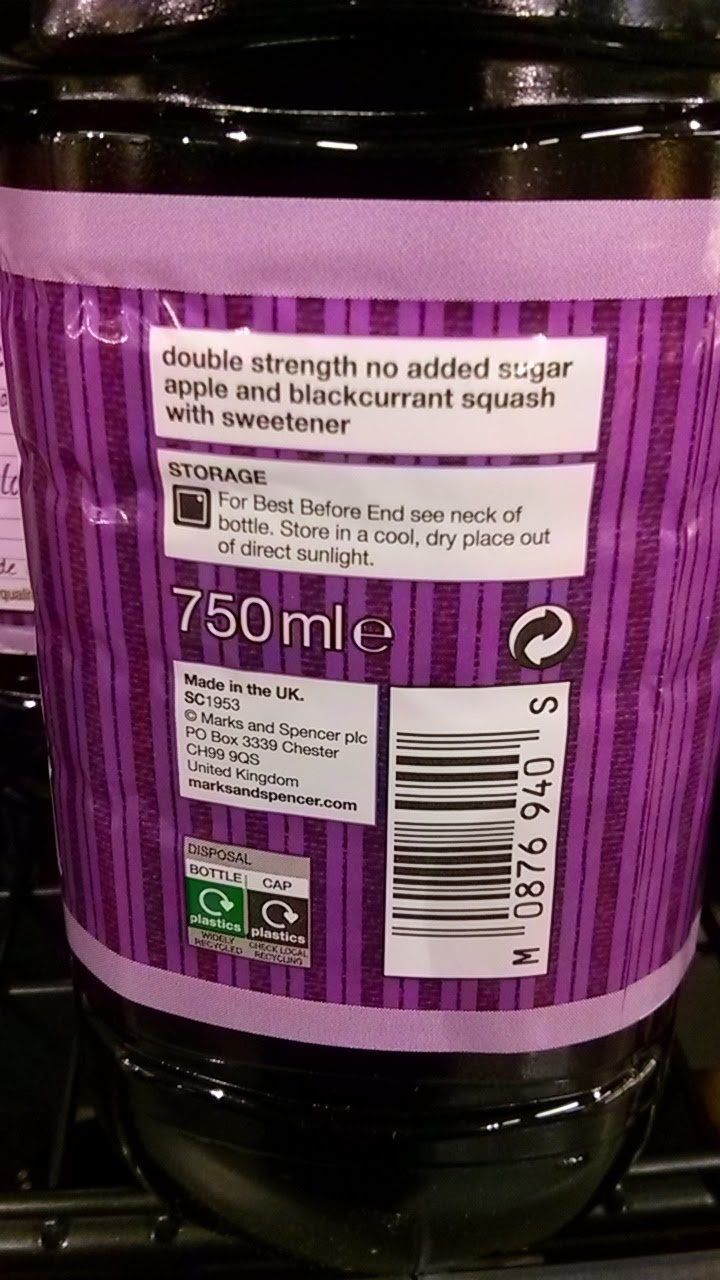 Apple & Blackcurrant Squash - Product