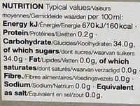 White Balsamic Condiment - Nutrition facts - en