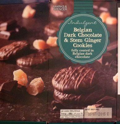 Belgian Dark Chocolate & Stem Ginger Cookiers - Product