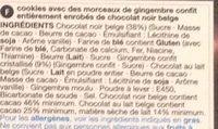 Belgian Dark Chocolate & Stem Ginger Cookiers - Ingredients