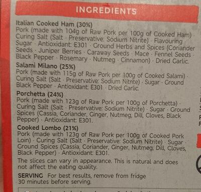Italian cooked meat selection - Ingrediënten - en