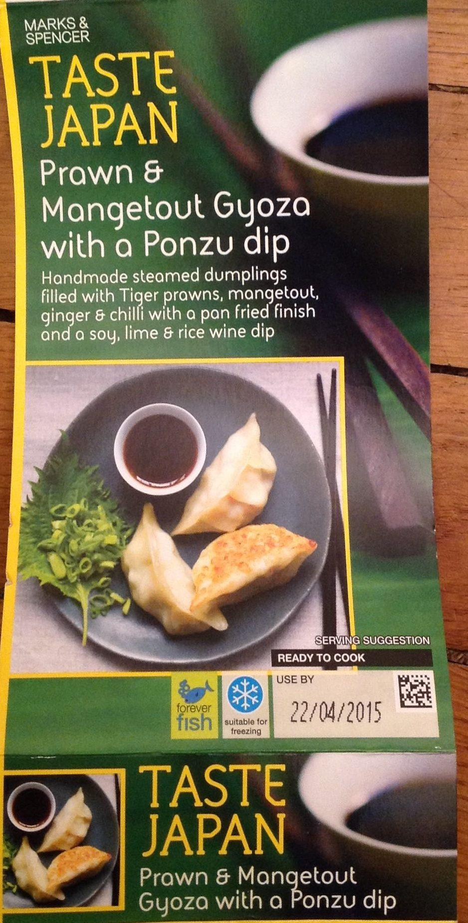 Prawn & Mangetout Gyoza with a Ponzu Dip - Product - en
