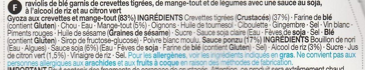 Prawn & Mangetout Gyoza with a Ponzu Dip - Ingrédients - fr