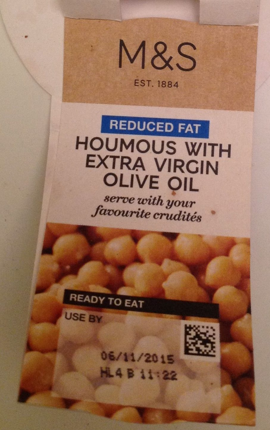 Houmous with Extra Virgin Olive Oil - Product