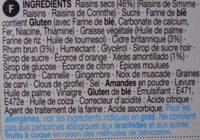 Christmas Pudding - Ingrediënten - fr