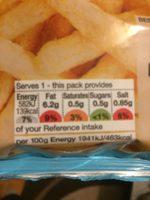 Chiplets vinaigre - Informations nutritionnelles