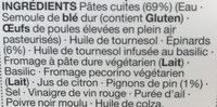 Pâtes épinards et pignons de pin - Ingredients - fr