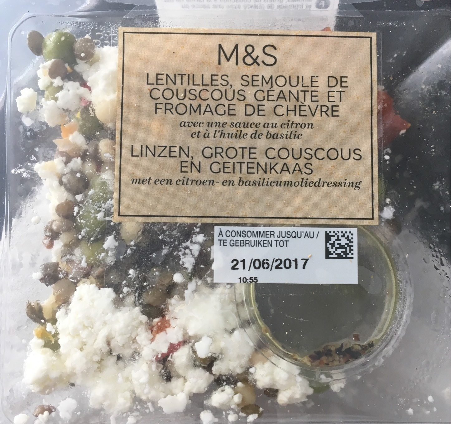 Lentille semoule de couscous geante et fromage de chevre - Produit