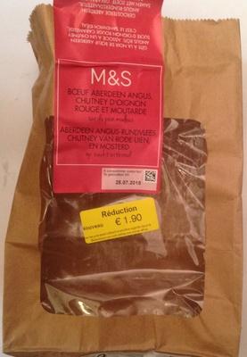 Boeuf Aberdeen Angus, Chutney d'oignon rouge et moutarde - Product