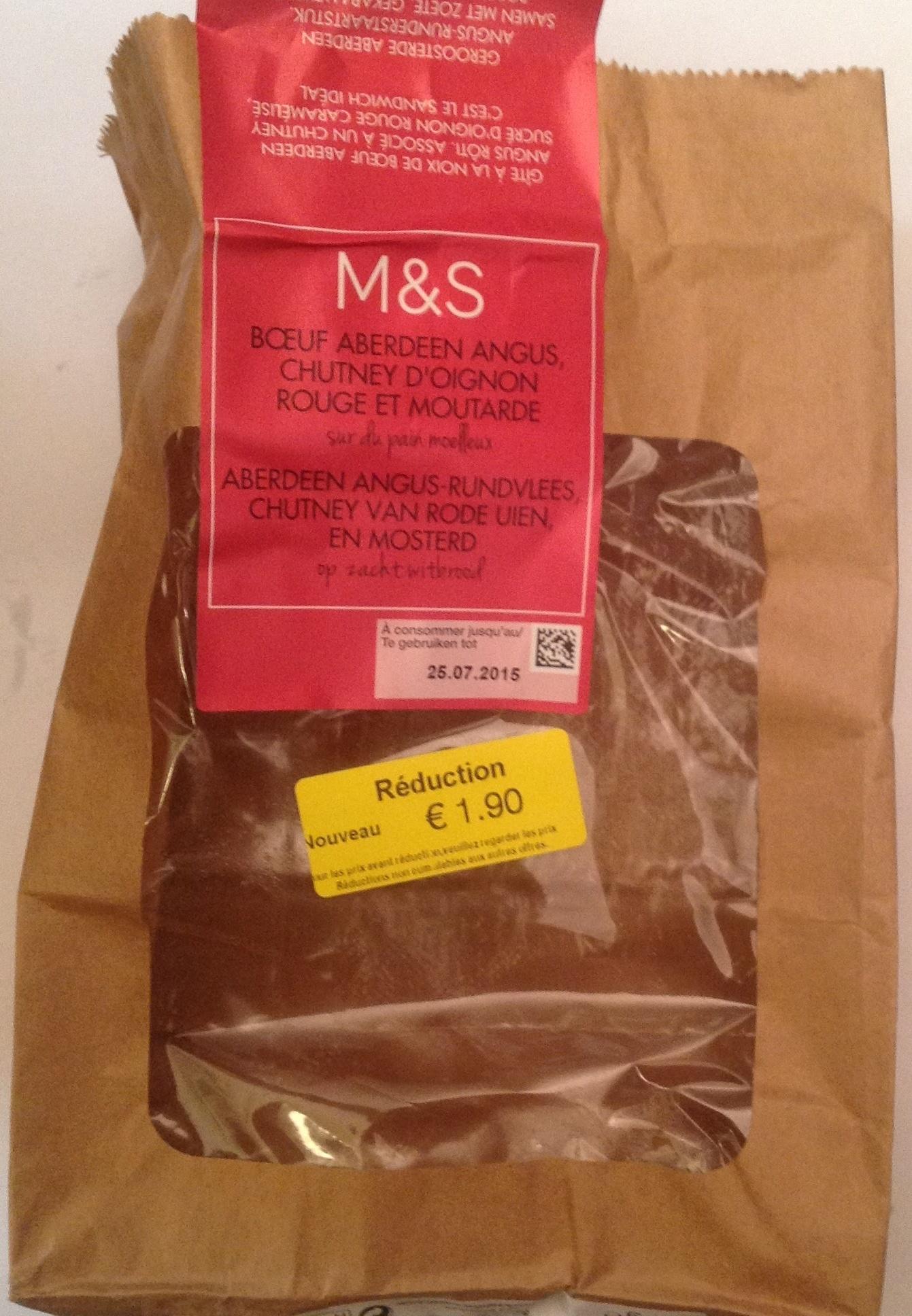 Boeuf Aberdeen Angus, Chutney d'oignon rouge et moutarde - Product - en