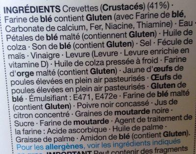 Crevettes Mayo sur du Pain Spécial - Ingredients