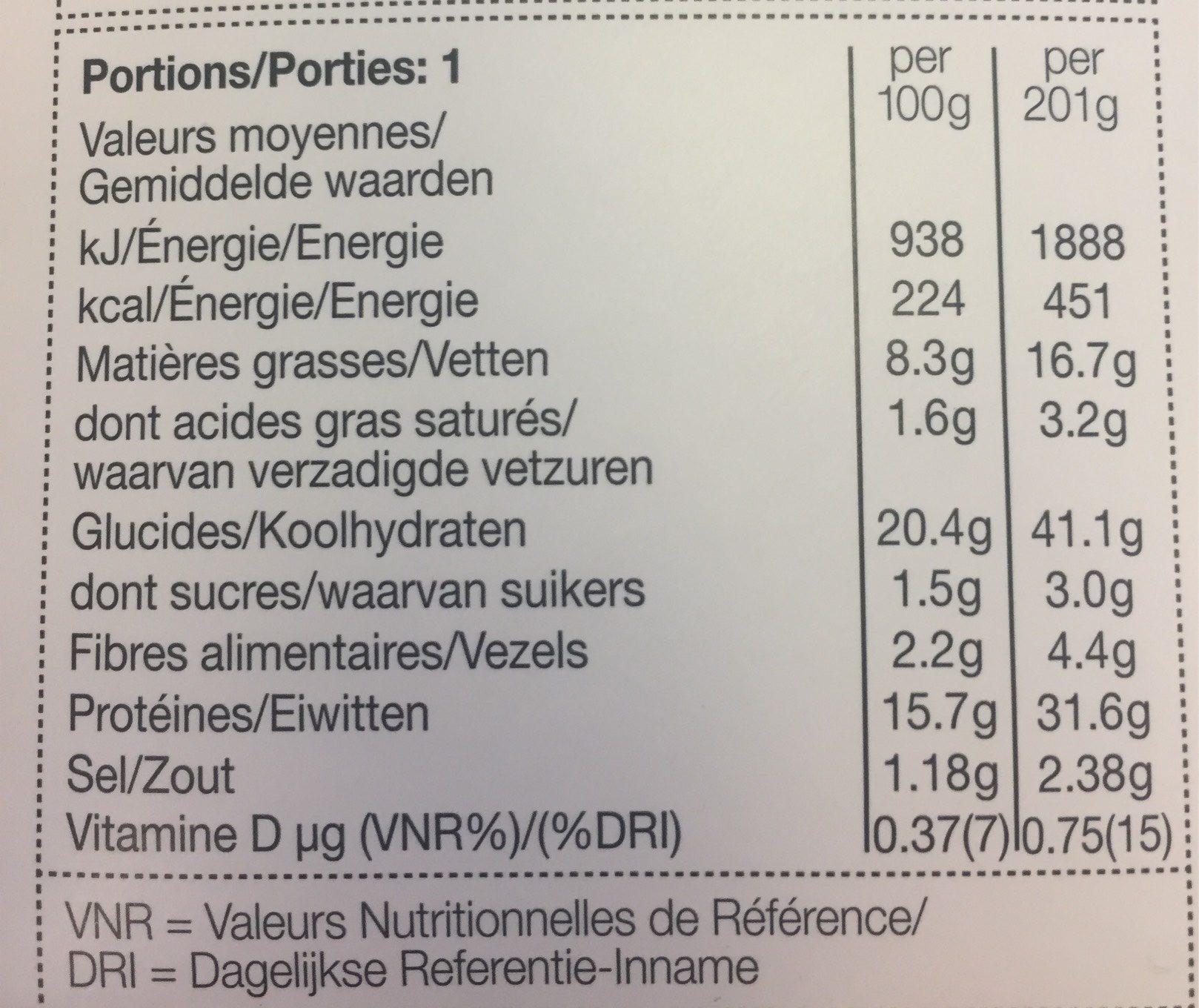 Sandwich Poulet Rôti & Bacon sur du Pain Spécial - Nutrition facts