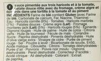 Mexicain Aux 3 Haricots - Ingrediënten - fr