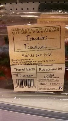 Tomates Tomalini Mûries sur Pied - Product